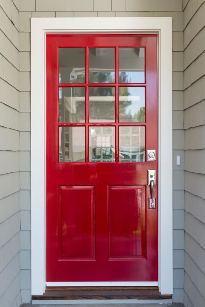 Red Door With Glass : Different red front doors many designs pictures