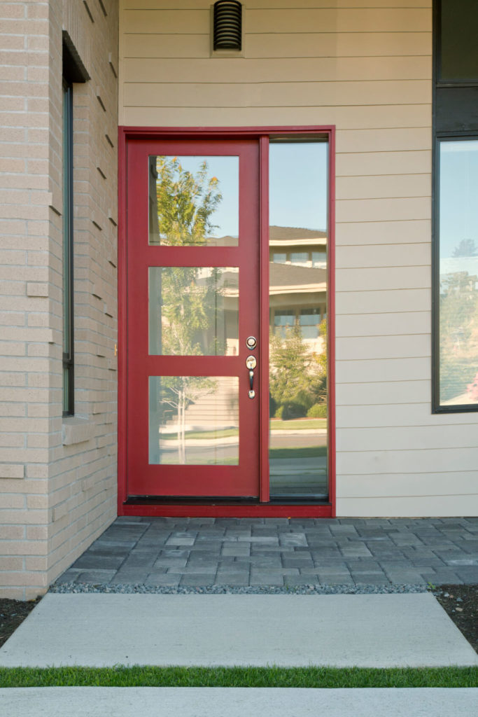 front door with one sidelight35 Different Red Front Doors Many Designs  Pictures