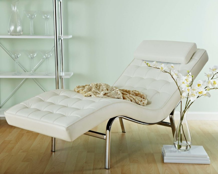 20 top stylish and comfortable living room chairs for Alaina tufted chaise in white