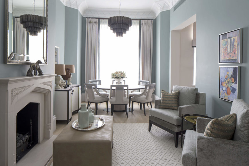 Luxurious bromptons home interior design by roselind for 2nd living room ideas