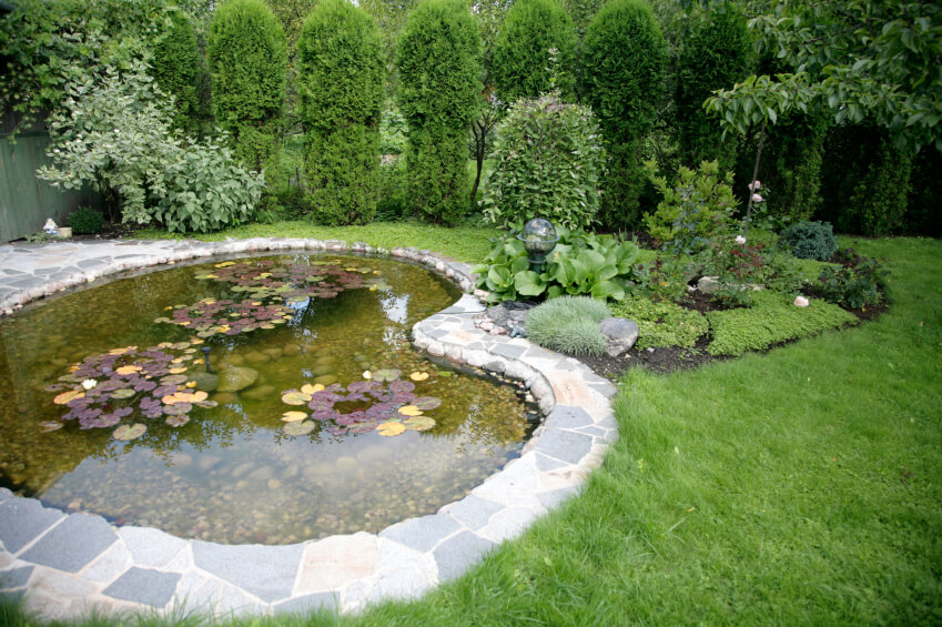 37 backyard pond ideas designs pictures for Landscaping around koi pond