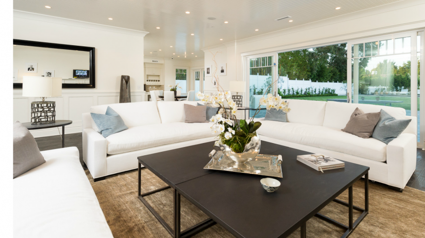 Doors To Separate Two Rooms Part - 46: The Living Room Of This Home Is Double Sided, With The Second Side, Shown