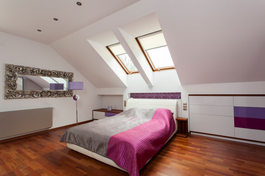 attic furniture ideas. a bold bedroom in shades of magenta violet and silver the heavy filigree attic furniture ideas