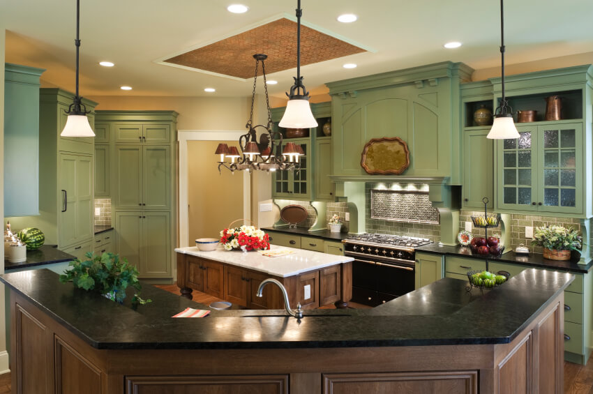 Fabulous Country Kitchen Designs Ideas - Green kitchen accessories ideas