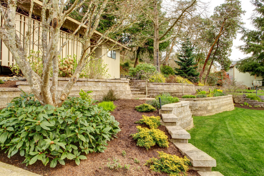 27 Backyard Retaining Wall Ideas and Terraced Gardens on Terraced Front Yard Ideas id=35867