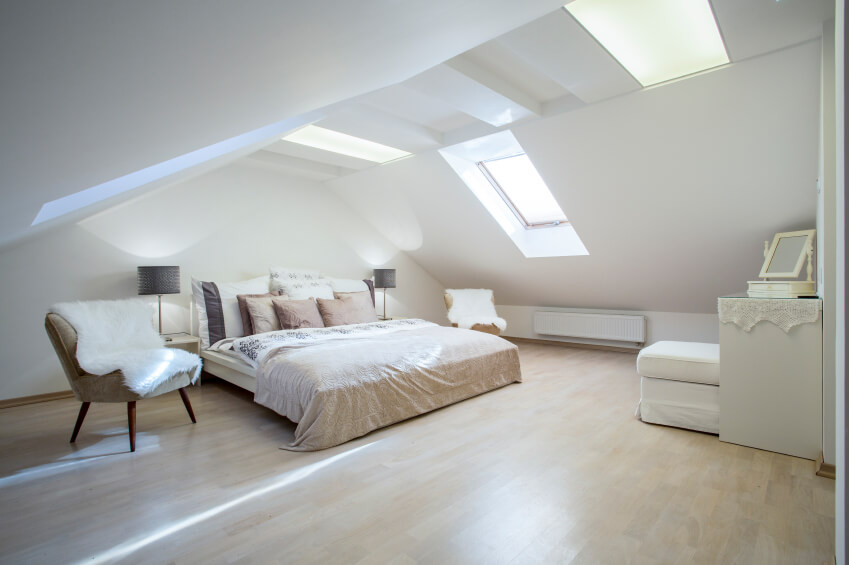 High Quality Spacious Master Bedroom With Skylights