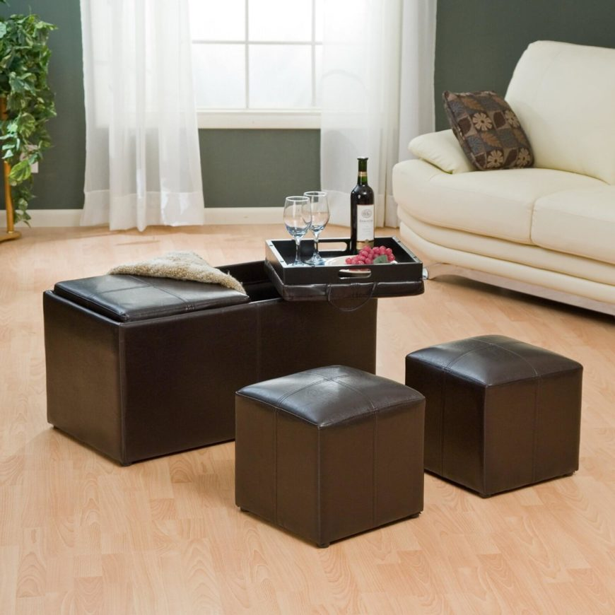 21 Brown Ottomans Under $100 (Square, Rectangle & Round