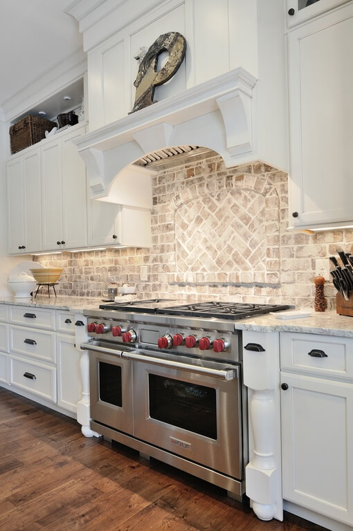 40 striking tile kitchen backsplash ideas pictures Kitchen design center stove