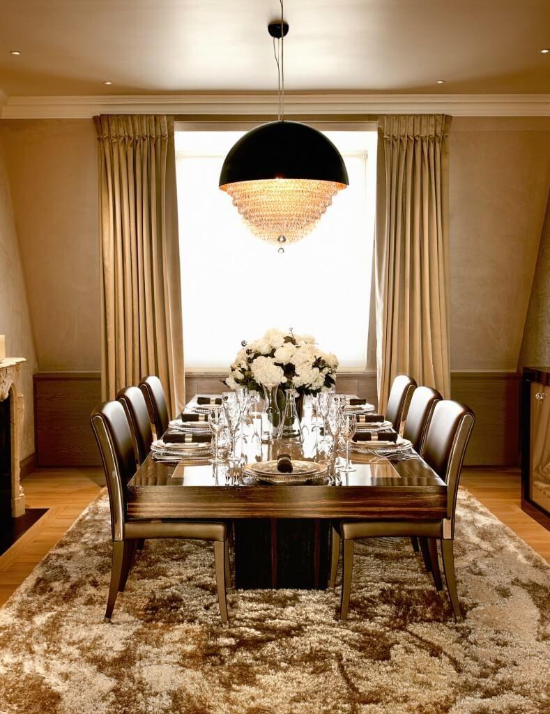 Modern dining table interior design - 25 Elegant Dining Room Designs By Top Interior Designers