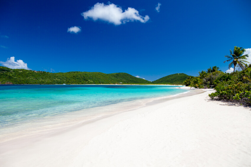 Flamenco Beach on Culebra Island, Puerto Rico