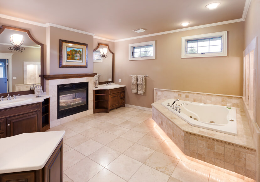 18 Master Bathrooms With Fireplaces Graphic World Co