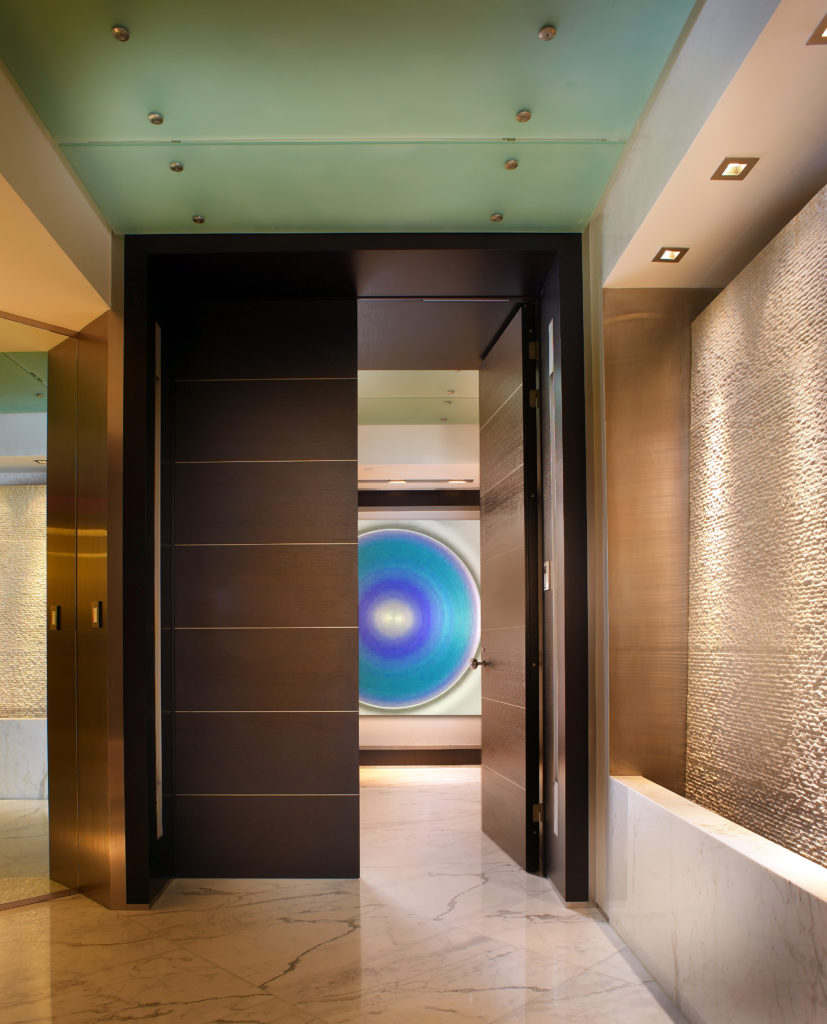 Ultra modern palazzo de mare in bold red by pepe calderin - Modern entryway design ideas ...