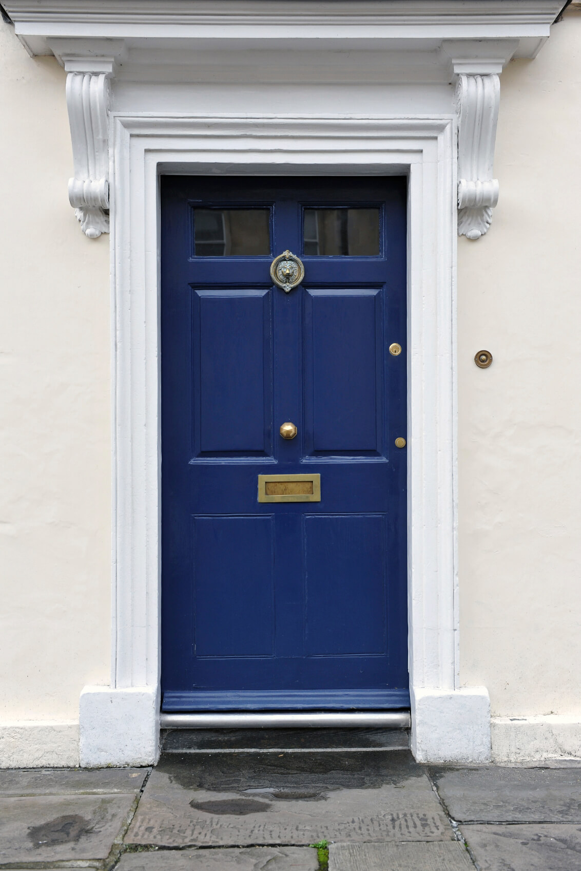 21 cool blue front doors for residential homes for Glass door in front of exterior door
