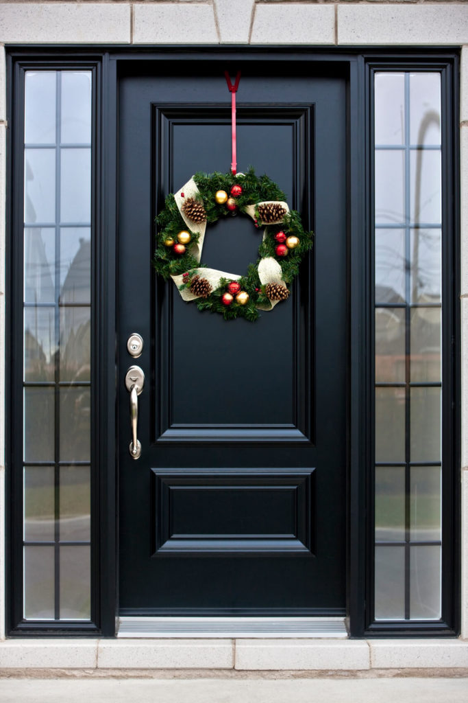 Black Door With Side Light : Pictures of black front doors entry