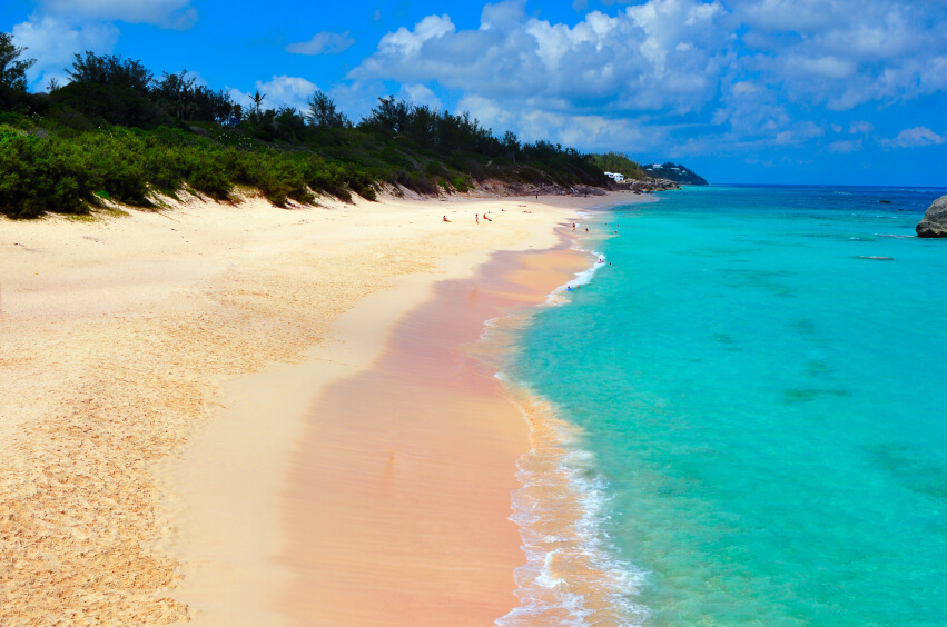 The beautiful, unique beaches of Barbuda are known for the pink sand along the shore.  The island is not a popular tourist destination, and much of the island is still a small village.