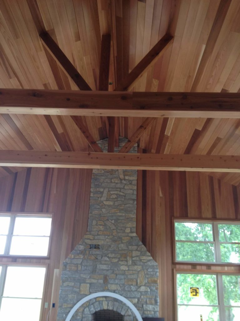 Fantastic reader renovations complete sunroom renovation for Vaulted ceiling with exposed beams
