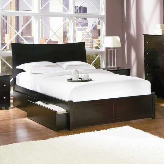 25 incredible queen sized beds with storage drawers underneath - Modern queen bed with storage ...