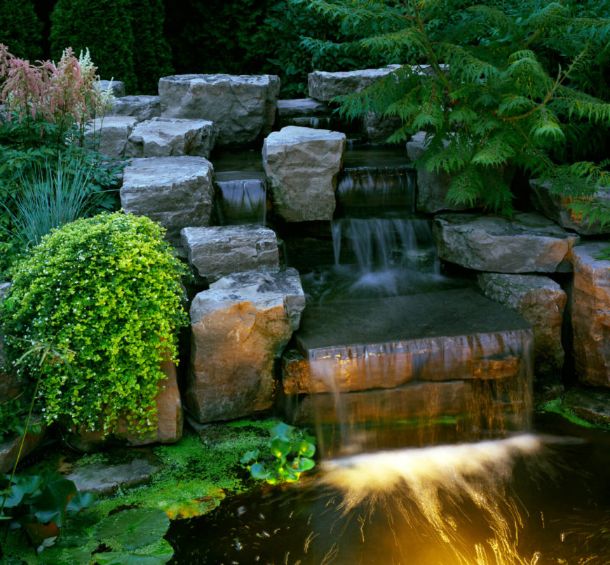50 Pictures of Backyard Garden Waterfalls (Ideas & Designs) on Waterfall Ideas For Garden id=48547