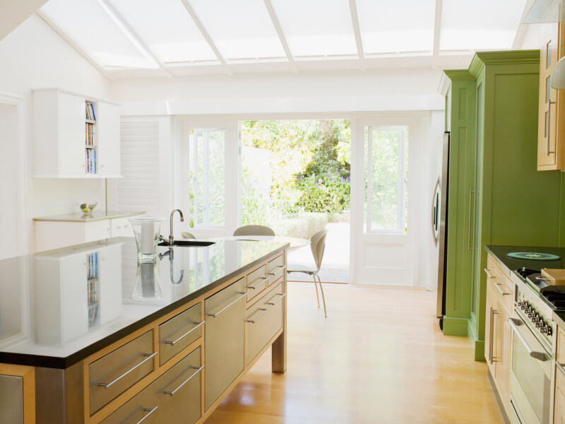 This Cottage Kitchen Has Beautiful And Natural Hues And Tones. The Ceiling  Is Lined With