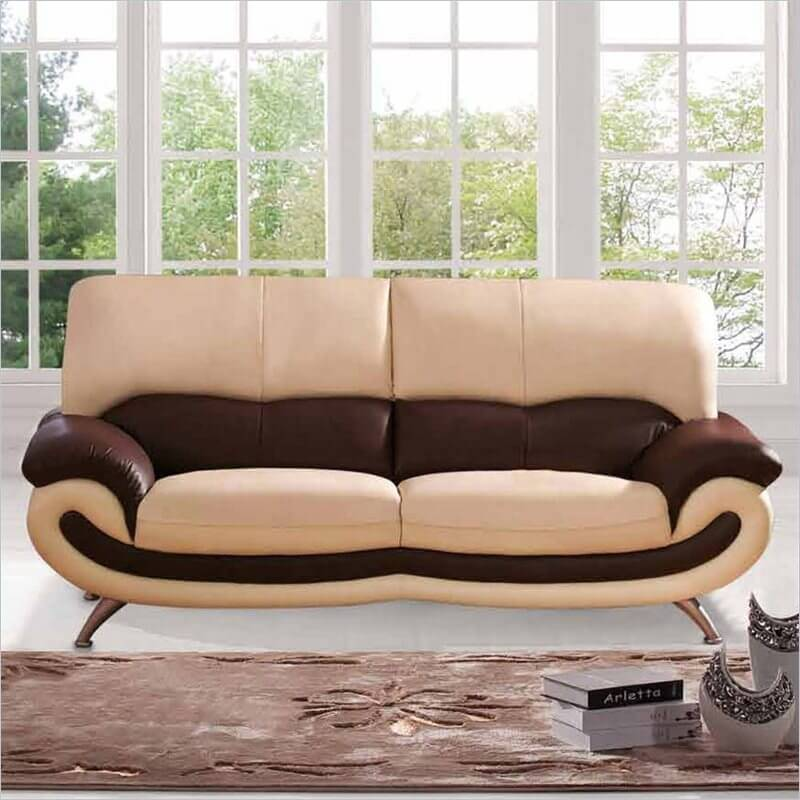 comfortable living room furniture. Here s a truly modern design sofa  mixing beige and brown layers of leather with 20 Super Comfortable Living Room Furniture Options