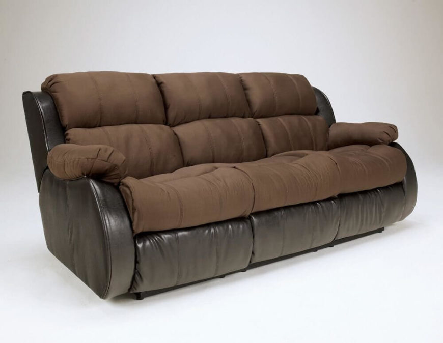 comfortable living room furniture. Our next sofa mixes leather and fabric upholstery  with all contact surfaces in soft mocha 20 Super Comfortable Living Room Furniture Options