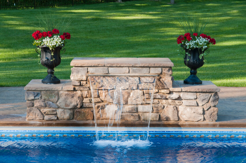Pool Tile Water Fountain : Fabulous swimming pools with waterfalls pictures