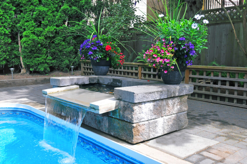 Swimming Pool Fountains : Fabulous swimming pools with waterfalls pictures