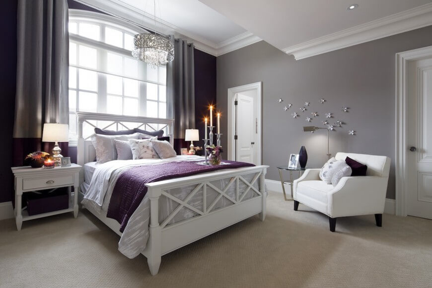 Master Bedroom Grey gray and purple master bedroom ideas purple master bedrooms best