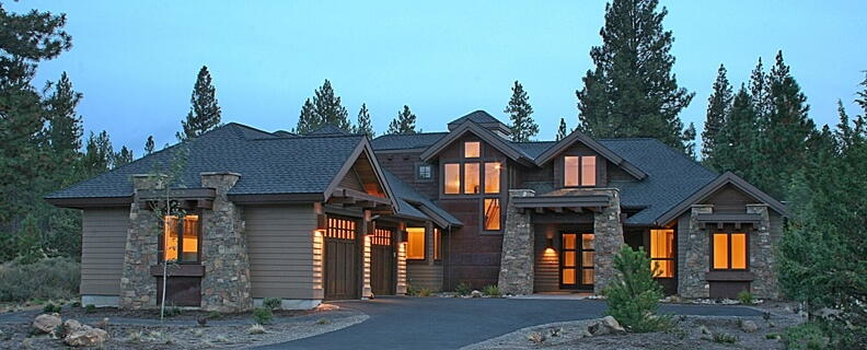 2-Story Contemporary Craftsman Home Design & Floor Plan