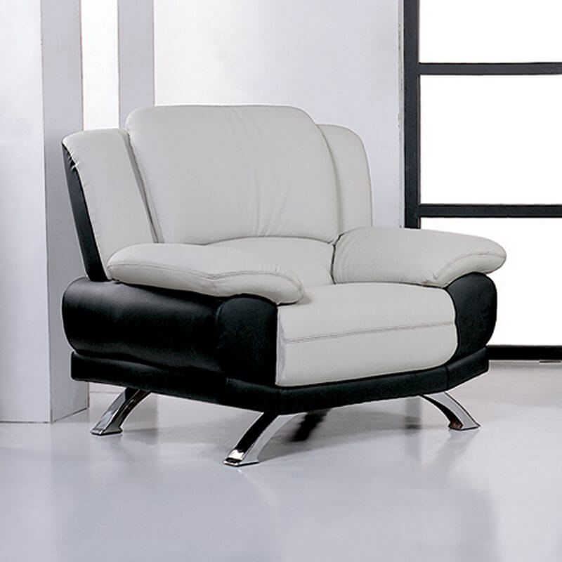 Here We Have A Truly Modern Chair Design, With Lightly Angled Black Leather  Body Supporting