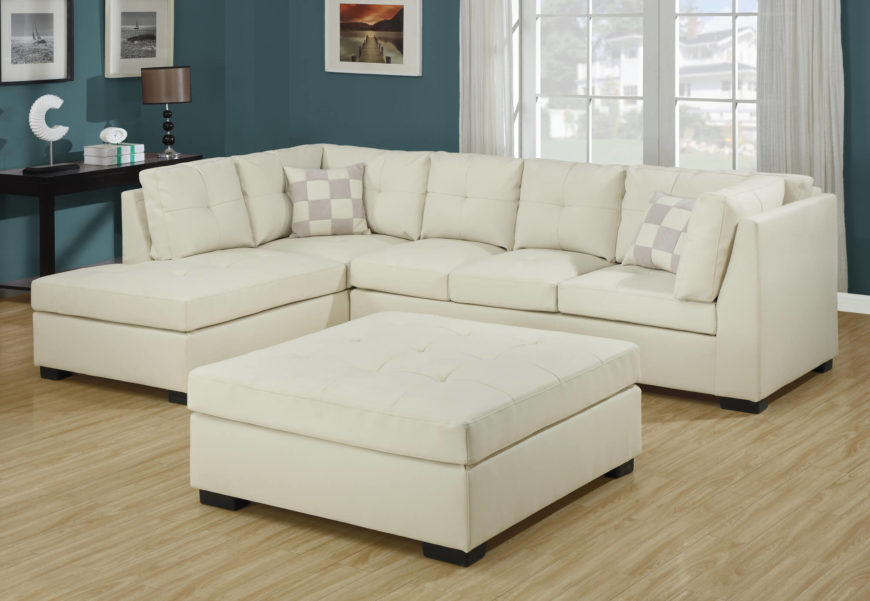 25 White Leather Ottomans Square Amp Rectangle