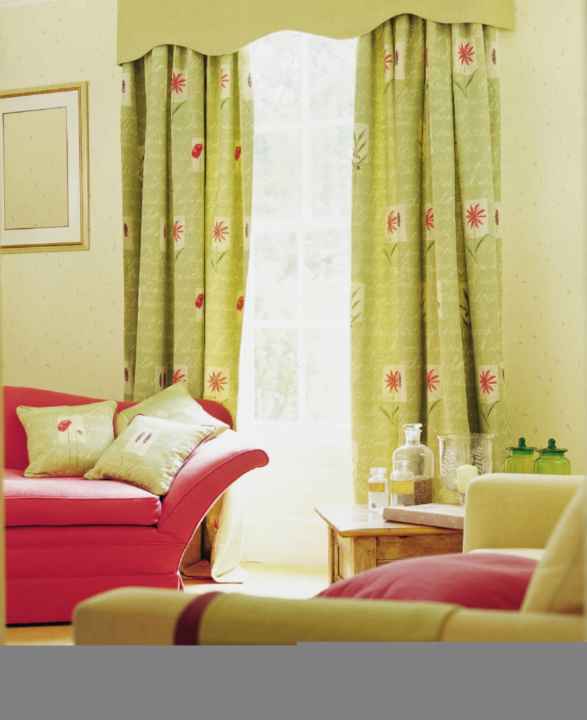 The Light Yet Bright Green Goes Beautifully With Watermelon Pink Sofa And Throw Pillows