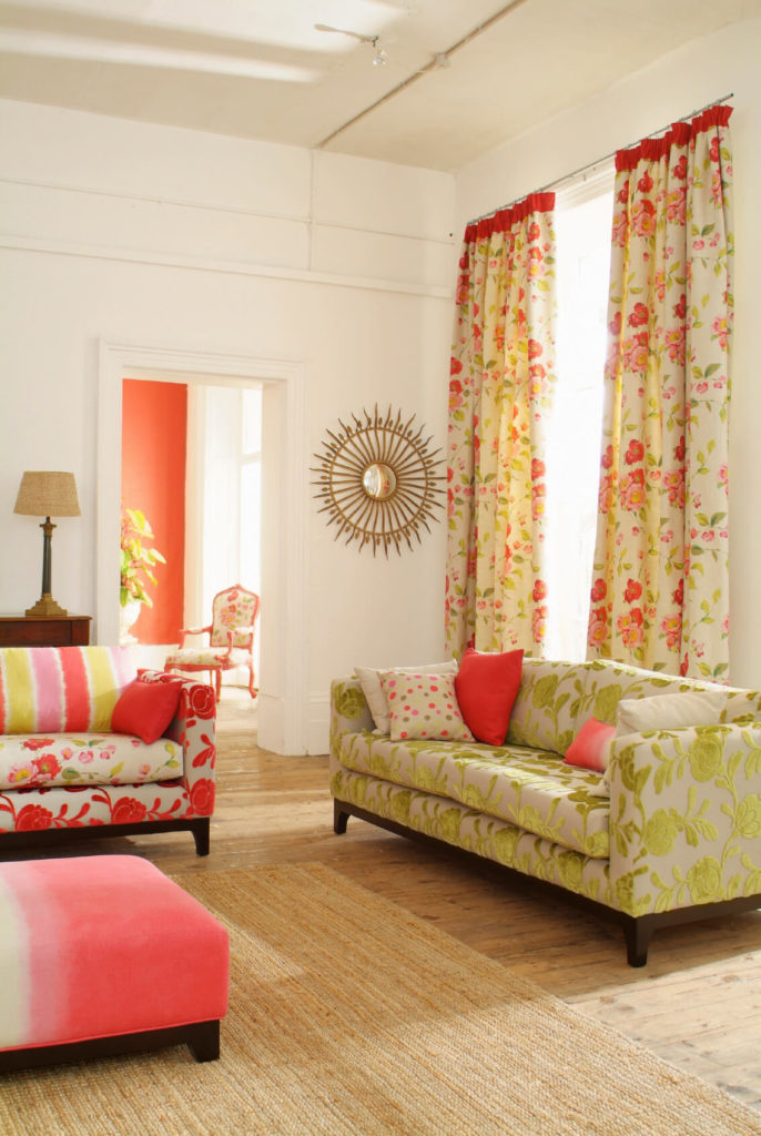 53 living rooms with curtains and drapes eclectic variety for Colour matching chart living room