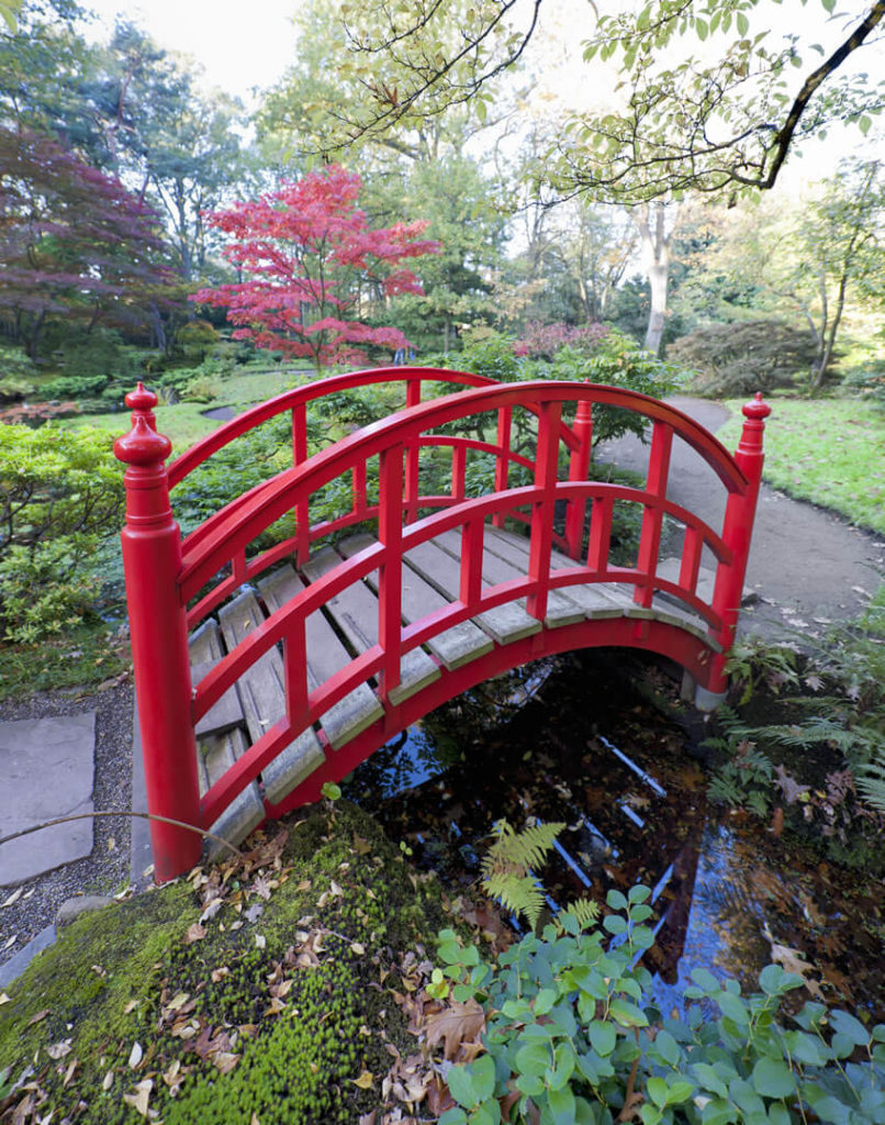 although chinese red bridges are as the name implies chinese in origin they - Red Japanese Garden Bridge