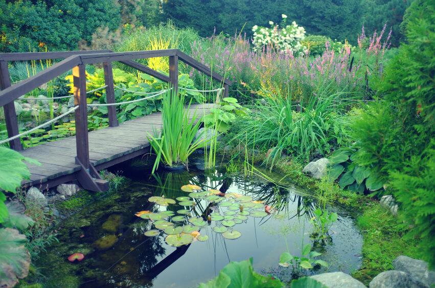 49 Backyard Garden Bridge Ideas And Designs (PHOTOS)