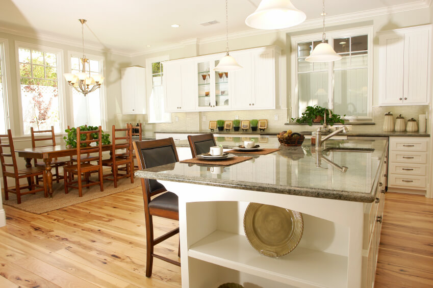 White Kitchen Cabinets Dark Wood Floors Heavenly Design Interior New At White Kitchen Cabinets Dark photo - 3