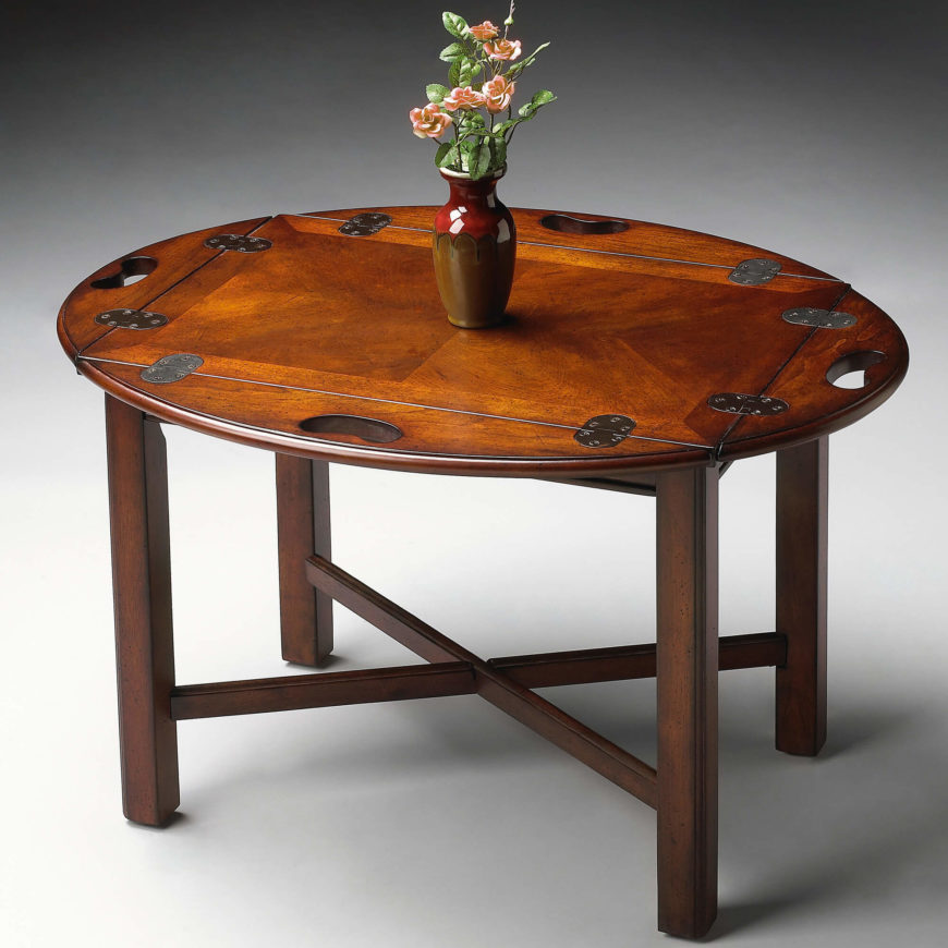 Oval Wood Coffee Table With Storage: 20 Top Wooden Oval Coffee Tables