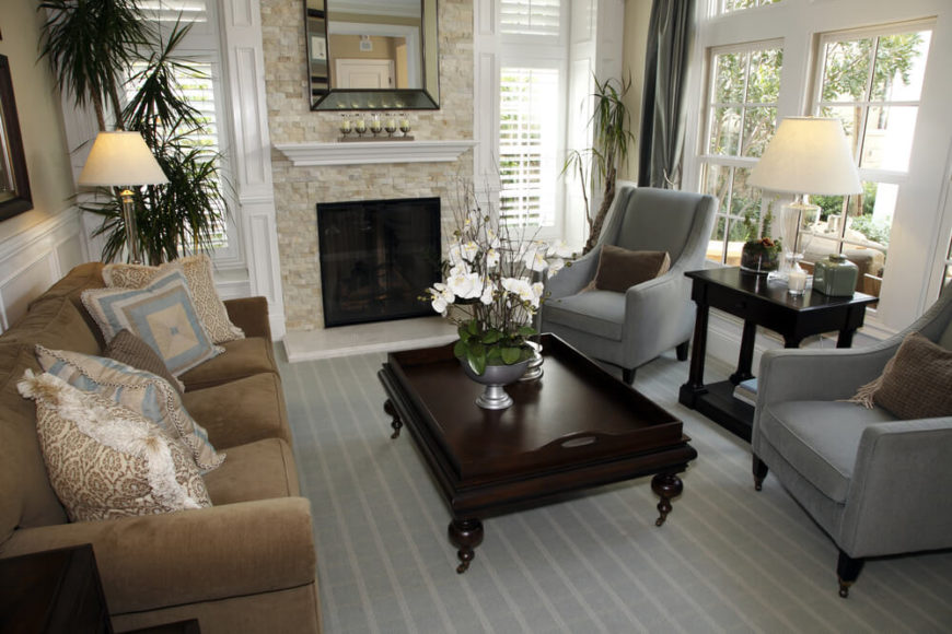 25 cozy living rooms with fireplaces - Cozy elegant living rooms ...