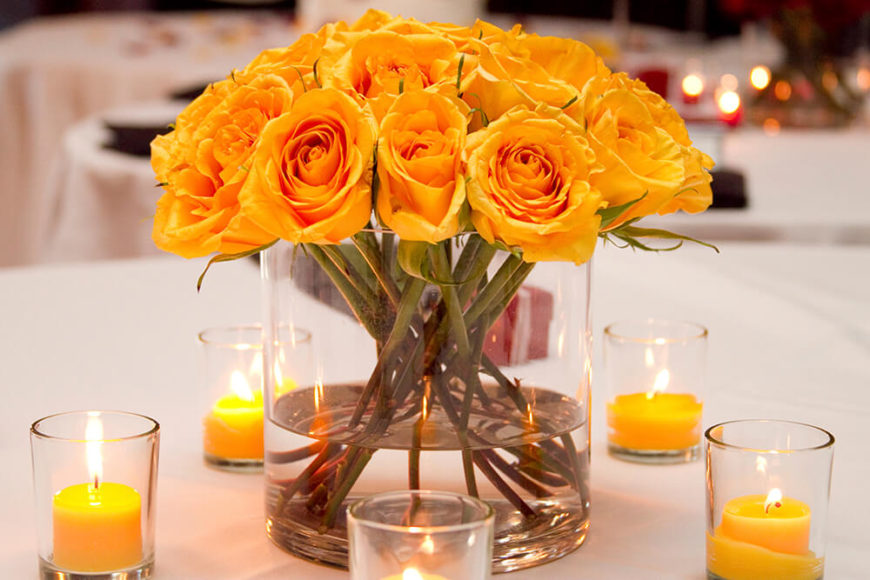 Colorful Dining Table Centerpieces: 33 Extravagant Floral Arrangements For Your Dining Table