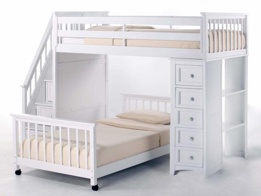 24 designs of bunk beds with steps kids love these. Black Bedroom Furniture Sets. Home Design Ideas