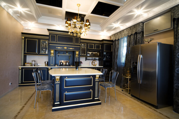 22 Jaw Dropping Small Kitchen Designs: 23 Kitchens With Black Cabinets (PICTURES