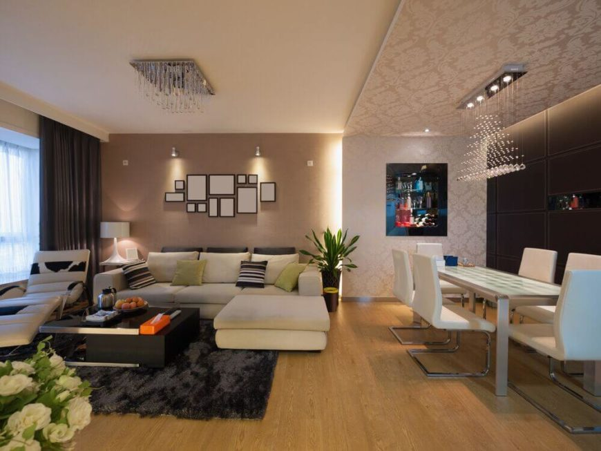 Awesome While Much Of This Open Concept Living Room And Dining Room Is In A Sleek Nice Ideas