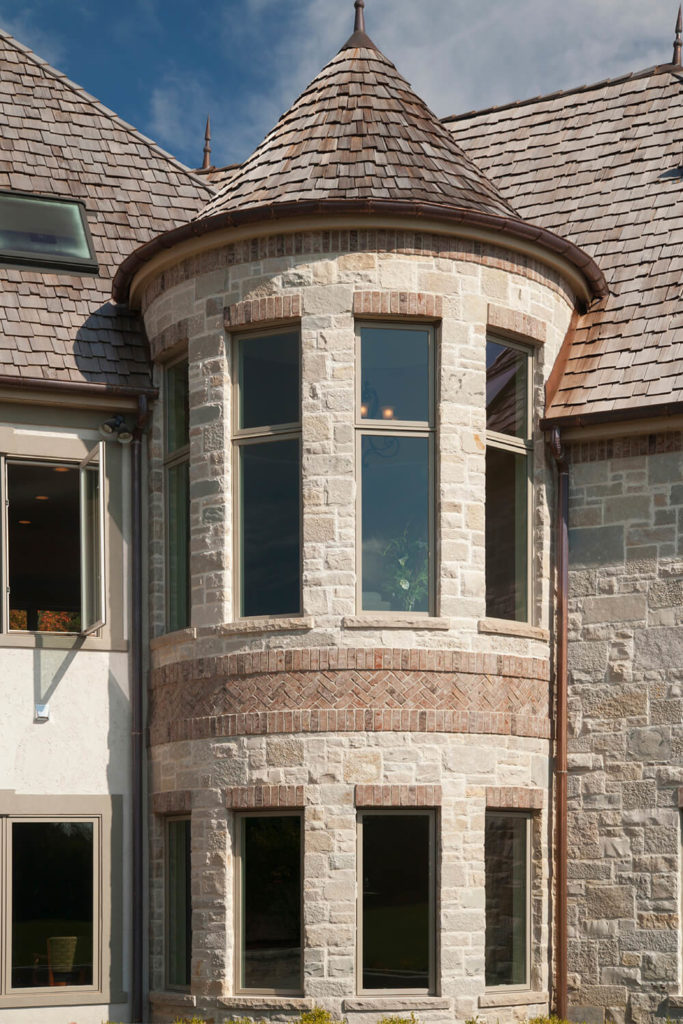 Cedar shingles can be used on more than just your classic roofing. These shingles are easily placed on a rounded and curved roof.