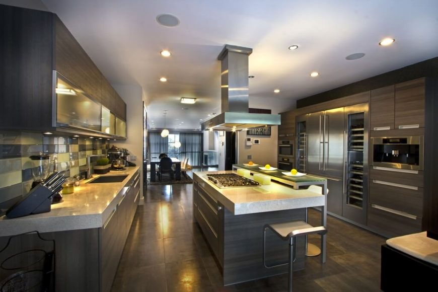 This Space Has A Modern Ambience. The Countertops Are Lined With A Chic  Granite That