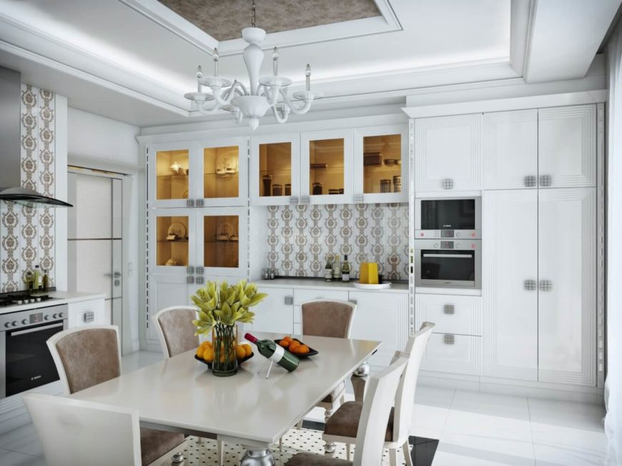 Classic White Kitchen Design By ARS IDEA.