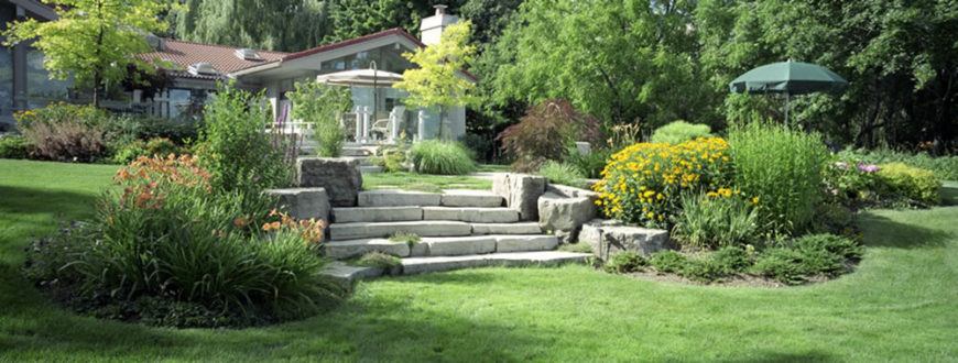 A Gorgeous Stone Walkway Leads Up Towards The Patio And Pool Area. Two Large  Areas