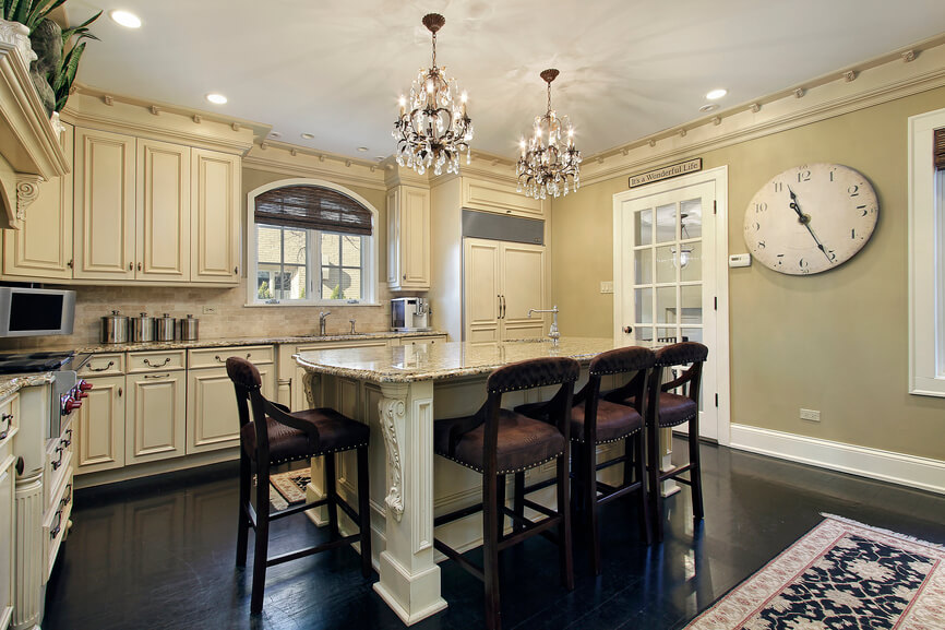 kitchen in luxury home with center island - Kitchen Island Design Ideas With Seating