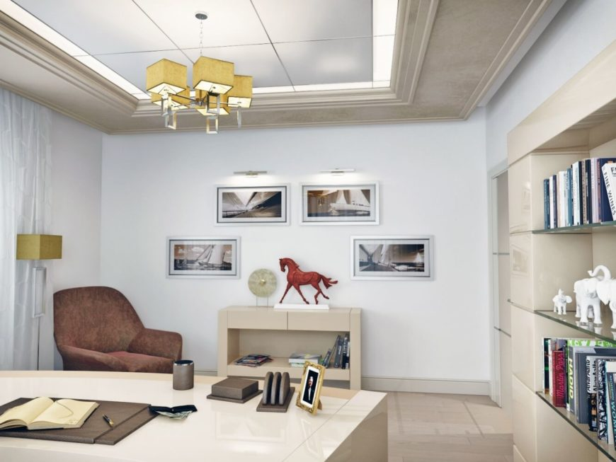 art deco office. The Art Deco Theme Is Particularly Apparent In Above Office. Featuring A Collage Of Office