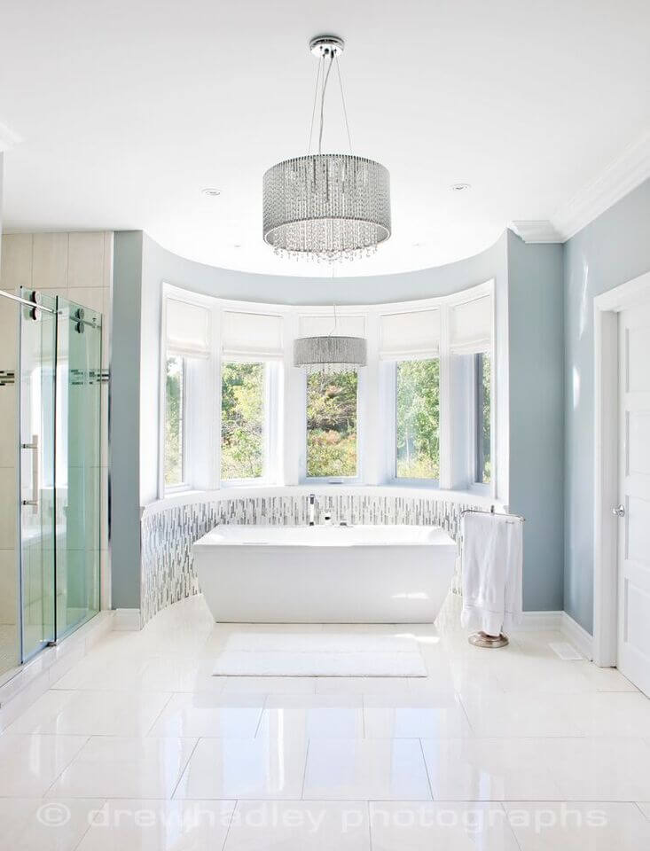 30 master bathrooms with free standing soaking tubs pictures for Master bathroom windows