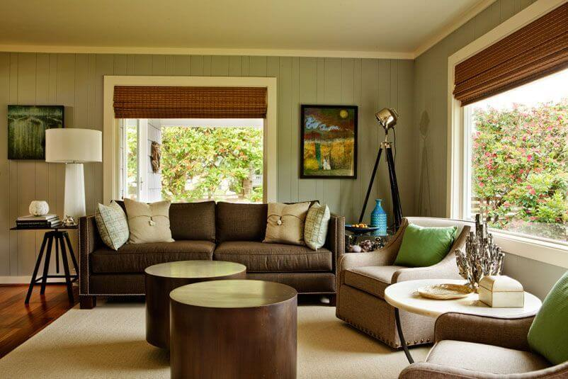 Good This Inviting Living Room Offers Comfortable Seating In Warm Shades That  Complement The Bright Wood Of